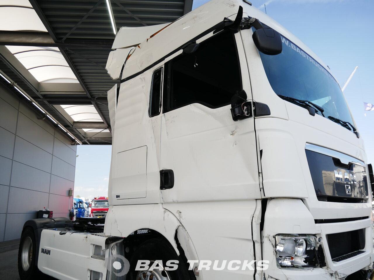 For sale at BAS Parts: MAN TGX 18 440 XLX Unfall Engine Problem 4X2 03/2012